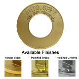 "4"" Round ""Auto Sprinkler"" Plate - Brass or Polished Chrome"