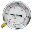 "4"" Dry Utility Fire Pump Discharge Gauge 0 - 300 PSI"