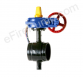 "Aleum 8"" Butterfly Valve w/ Open Tamper, Grooved"