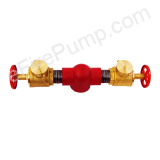 "4"" Exposed 2-Way Flanged Fire Pump Test Header Connection"