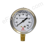 "2-1/2"" 0-160 PSI Allenco Liquid Filled Gauge"