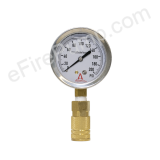 "2-1/2"" 0-200 PSI Allenco Liquid Filled Replacement Pitot Tube Gauge"