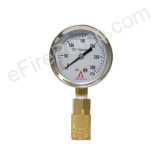 "2-1/2"" 0-300 PSI Allenco Liquid Filled Replacement Pitot Tube Gauge"
