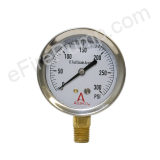 "Calibrated 2-1/2"" 0-300 PSI Allenco Liquid Filled Gauge"