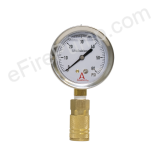 "2-1/2"" 0-60 PSI Allenco Liquid Filled Replacement Pitot Tube Gauge"