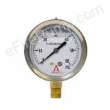 "Calibrated 2-1/2"" 0-160 PSI Allenco Liquid Filled Gauge"