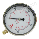 "Calibrated 4"" Allenco Liquid Filled Gauge 0-60 PSI"