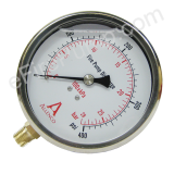 "4"" Allenco Liquid Filled Fire Pump Discharge Gauge 0-400 PSI"