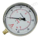 "Calibrated 4"" Allenco Liquid Filled Fire Pump Discharge Gauge 0-600 PSI"