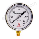 "Calibrated 4"" Allenco Liquid Filled Fire Pump Discharge Gauge 0-300 PSI"