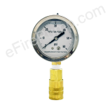 "Calibrated 2-1/2"" Allenco Liquid Filled Replacement Pitot Tube Gauge"