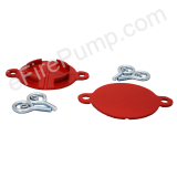 "2-1/2"" Red Aluminum FDC Break Cap"