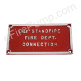 "Rectangular ""Dry Standpipe Fire Dept. Connection"" FDC Sign"