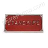 "Rectangular ""Standpipe"" Fire Dept. Connection FDC Sign"
