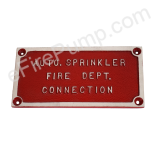 "Rectangular ""Auto Sprinkler Fire Dept. Connection"" FDC Sign"